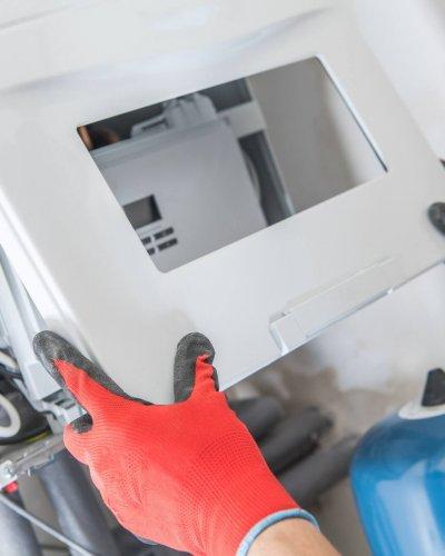 Herstellen van een condensatieketel op gas